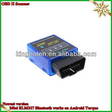 wholesale and best fuction Super mini elm 327 bluetooth for obd ii cars with factory price