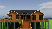 Russian pine wood villa for family living