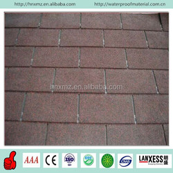 China Hotsale Red Plain Standard Fiberglass Colorful Asphalt Roofing Shingles