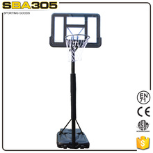 portable design basketball hoop system with polycarbonate backboard