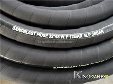 flexible black conductive NR 1inch sandblast hose