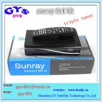 Sunray sr4 V2 sunray4 V2 hd se Triple tuner 3 Sunray 800Se hd Sr4 V2  sunray4 hd se sr4 800 SE V2 wifi inside,hot