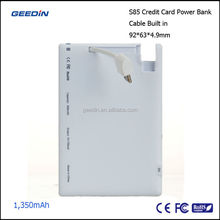 AA universal battery charger lithium polymer battery mobile power bank by geedin S85