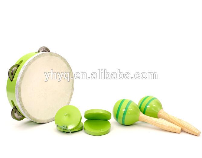 cor verde internacional de <span class=keywords><strong>instrumentos</strong></span> <span class=keywords><strong>musicais</strong></span> de brinquedo de percussão conjuntos