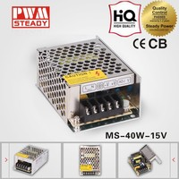 ac dc mini size MS-40-15 CE approved 40w 15v 2.5a single output switching power supply