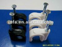 C shape double nail cable concrete clips