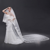 ZD01 New Arrival High-end Long Lace Edged Wedding Veils