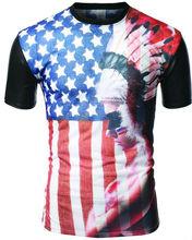 Best-Selling Manufacturers fashion rock S--XXXL us flag t-shirt