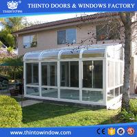 Safe and reliable single glazing/double glazing/triple glazing aluminum sunroom