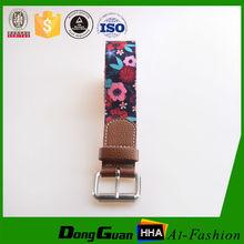 Fashion fabric eyelets belt for men