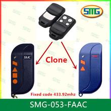 Faac universal de control remoto de garaje transmisor fob smg- 053- faac