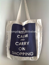 Keep Calm And Carry On Shopping Large Cotton Canvas Shoulder Shopper Bag WZ7070