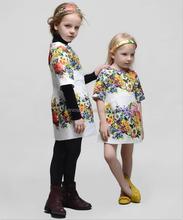 Exporter short sleeves branded kids girls evening dresses