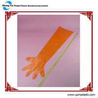 Disposable Plastic Long Sleeve Gloves