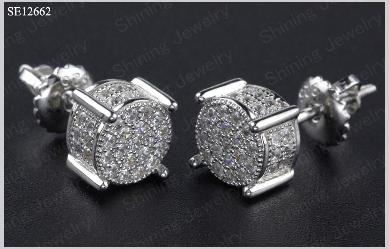 Round micro pave lab created diamond vvs mens hip hop jewelry buy mens hip hop jewelry 3g aloadofball Choice Image
