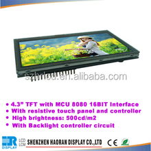 Lcd display 4.3 inch tft lcd module for Auto smart home