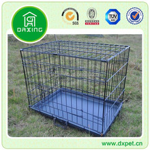 DXW009 Easy Wire Metal Dog Pet Cat Crate Cage Bed Black