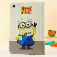 folding case for ipad mini despicable me minion leather case