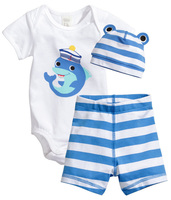2014New Arrivals Summer Children's Boutique Clothing Baby Body Suits Clothes With Hat, Baby Toddler Clothing 13110