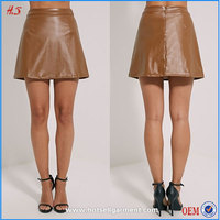 Pictures Of A-Line Faux Leather Micro Mini Skirt For Women