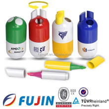 pill shaped 3 colors Design Highlight/stationery set/ promotion gifts