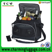 High quality portable insulated cooler bag with speaker