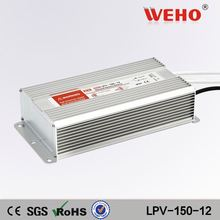 LPV-150-12 constant voltage led driver 12.5a 12v waterproof led power supply