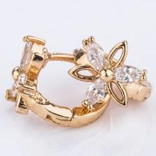 fashion design big 24k gold hoop earrings
