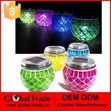 Solar Mosaic Lanterns (4 Pack) - Outdoor Garden Jar Coloured Light G0024