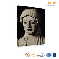 Decoration Home Canvas Buddha Face Oil Painting