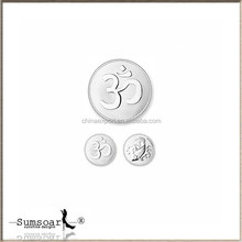 Hindu Symbol of Absolute Strength and Luck Silver Coin Charms Pendant