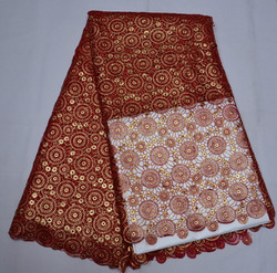 Beautiful French Embroidery Lace Bridal Fabric With Holes