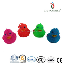 Lovely chicken toy Flashing promotional cute duck animal puffer ball.