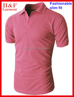 Plus size available t shirt manufacturing with shirt neck for men