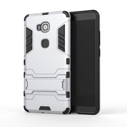 [Heavy Duty] Shock-Absorption Kickstand Hybrid Dual Layer Armor Defender Protective Case Cover for Huawei G7 Plus