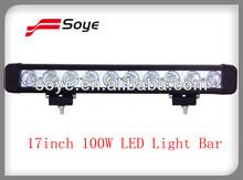 17inch 100w led lighting bar ,LED light bar for truck,SUV, ATV,Car accessory
