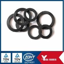 Dalian Factory Clear Silicone Flat O Ring,Black NBR Rubber Gasket