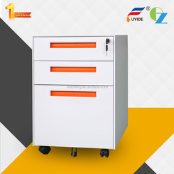 High quality customizable anti tilt pre-assemble modern steel 3-drawer mobile pedestal file cabinet