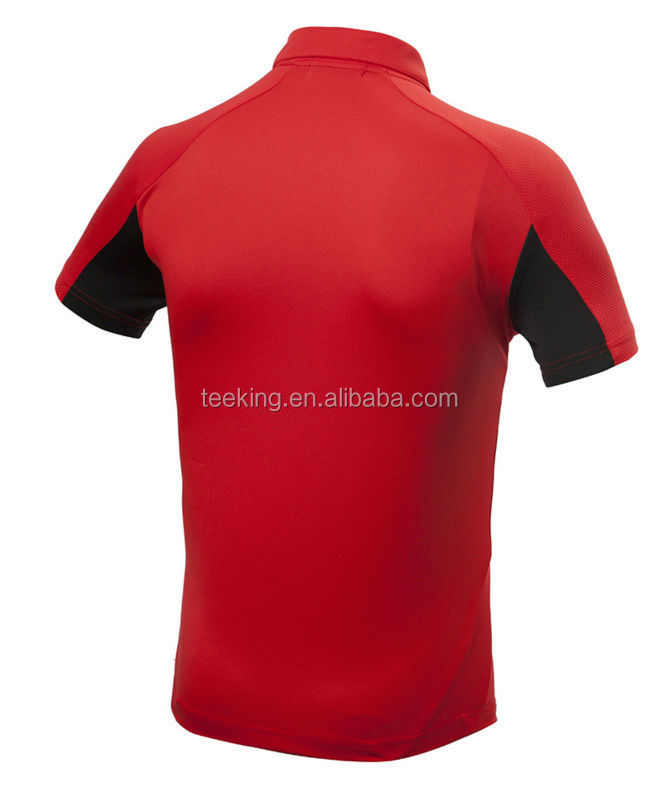 Custom 100 polyester dry fit mens wholesale golf polo shirt for Custom dry fit polo shirts