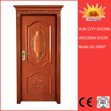 Russia solid wood kitchen cabinet door with glass SC-W087
