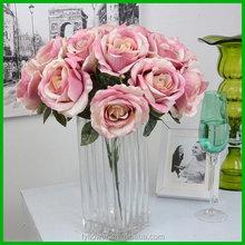 Good quality unique wholesale silk flower rose bouquet