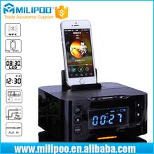Bluetooth Radio Speaker Dock station Alarm clock NFC Wireless speaker for iPhone, iPad, iPod, Android system