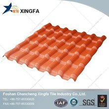 Synthetic Resin Spanish Plastic Tile Roof