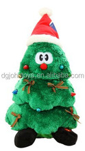 2015 China factory stuffed plush christmas tree for gift