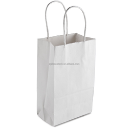 2015 Gem White Bag with Handles Shopping Bags Wholesale