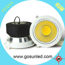 2014 new product recessed 45w led downlight 2700-6500k,CRI>82,3 years warranty