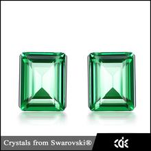 Alibaba Website Jewelry Big Rhinestone Austrian Crystal Stud Earrings For Ladies