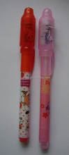 Eco school promotion invisible ink pen with uv light