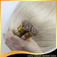 2014 Tangle Free Shedding Free Blonde Russian Virgin Hair Prebonded i Tip Human Hair