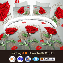 2015 new hot products 3D 100% polyester high quality alibaba china bedsheet